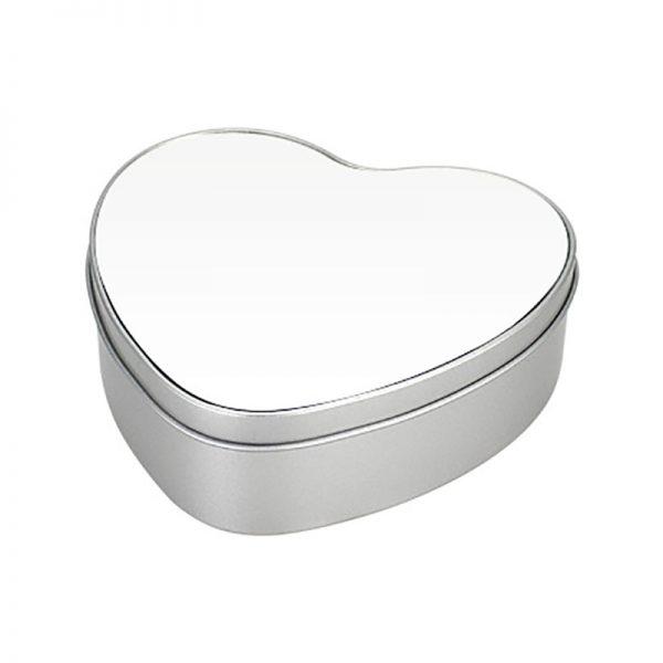 Caja Metálica Corazón Sublimación