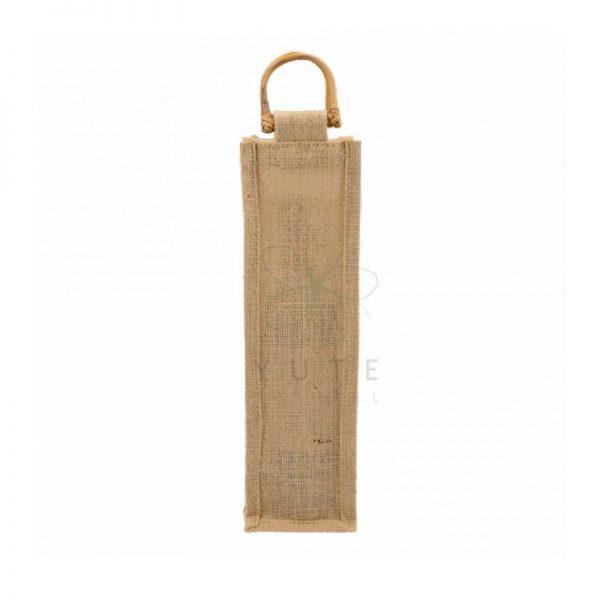 Bolsa de yute para 1 botella de vino 35x10x10